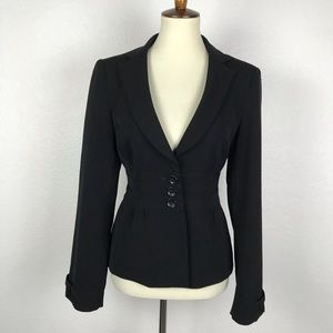Nanette Lepore Wool Blend Lined Fitted Blazer 221